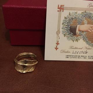 ラリースミス larrysmith カゼキリフェザーピンキーリング k18 (リング(指輪))