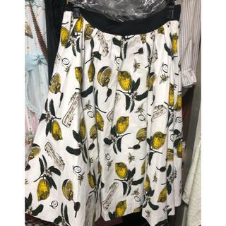 キューポット(Q-pot.)のQ-pot レモン スカート(ひざ丈スカート)