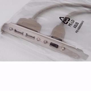 エイスース(ASUS)の新品🎁ASUS純正品 USB+1394 FireWire PCケースブラケット(PCパーツ)