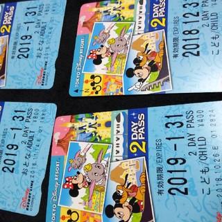 ディズニー(Disney)の★ディズニー★リゾートライン★2Days★四枚セット★(鉄道乗車券)