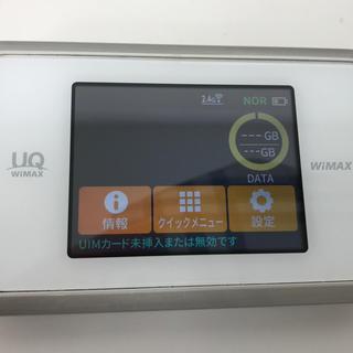 エヌイーシー(NEC)のモバイルルーター WiMAX 2+ Speed Wi-Fi WX03白銀(PC周辺機器)