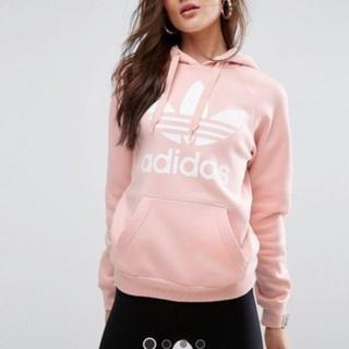 アディダス(adidas)の新品未使用 アディダス パーカー XS ユニセックス ピンク 送料込み(パーカー)
