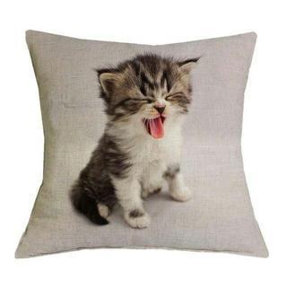 猫クッションカバー 子猫ちゃん♪ 新品未使用品 送料無料♪(猫)
