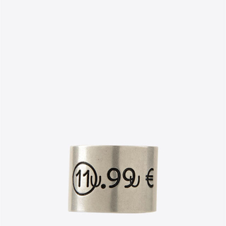 マルタンマルジェラ(Maison Martin Margiela)のMaisonMargiela メゾンマルジェラ プライスタグリング M シルバー(リング(指輪))