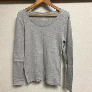 ジーユー(GU)のGU ロングTシャツ グレー M(Tシャツ(長袖/七分))