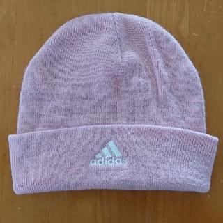 アディダス(adidas)の専用  中古 adidasニット帽ピンク色(ニット帽/ビーニー)