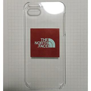 ザノースフェイス(THE NORTH FACE)のiPhoneSE ケース カバー アイフォン  ノースフェイス  ステッカー貼(iPhoneケース)
