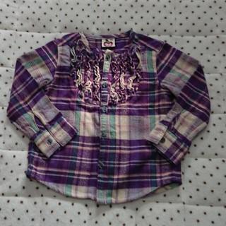WILL MERY - ウィルメリー チェックシャツ パープル100サイズ