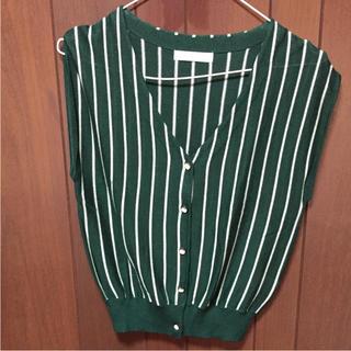 デターナル(DE TER NL)のノースリーブトップス デターナル グリーン(カットソー(半袖/袖なし))