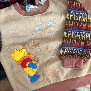 クマノプーサン(くまのプーさん)のディズニー  プーさんのセーター  クリーニング済み 男女兼用(ニット)