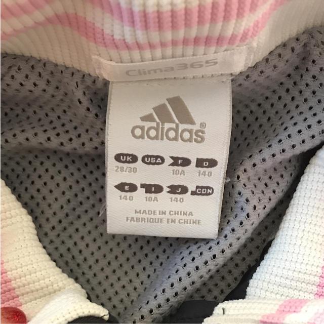 adidas(アディダス)のadidas★アディダス★140★ジャージ★シャカシャカ キッズ/ベビー/マタニティのキッズ服 女の子用(90cm~)(ジャケット/上着)の商品写真