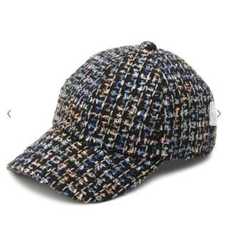リリーブラウン(Lily Brown)のlilybrown ツイードキャップ 帽子(キャップ)