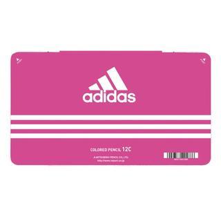 アディダス(adidas)のアディダス adidas 色鉛筆 12色セット 三菱鉛筆 丸軸 880級 ピンク(色鉛筆)