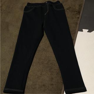 シマムラ(しまむら)のしまむら のびっぱ 裏起毛 120cm 9分丈 ブラック(パンツ/スパッツ)