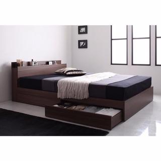 マットレス付 収納 ベッド シングル (シングルベッド)