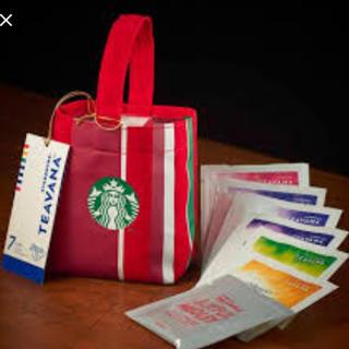 スターバックスコーヒー(Starbucks Coffee)のスターバックス ティバーナ ホリデーアソート 7袋入り ミニトート つき(茶)