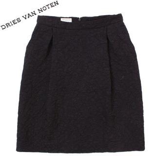 ドリスヴァンノッテン(DRIES VAN NOTEN)のDRIES VAN NOTEN フラワースカート size36 ブラック (ひざ丈スカート)