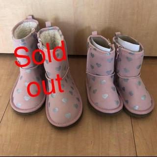 ベビーギャップ(babyGAP)のGAP♡ハートが可愛いピンクのブーツ♡(ブーツ)