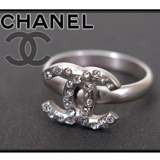 シャネル(CHANEL)のCHANNEL CoCoマーク ロゴ クリアストーン リング(リング(指輪))
