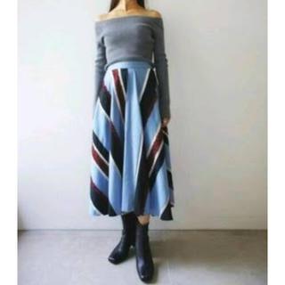 フレイアイディー(FRAY I.D)のモールストライプスカート フレイアイデー(ロングスカート)