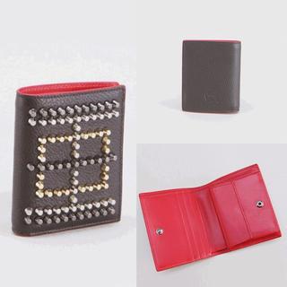 Christian Louboutin - 《新品》クリスチャンルブタン☆スタッズ☆コンパクト二つ折りミニ財布