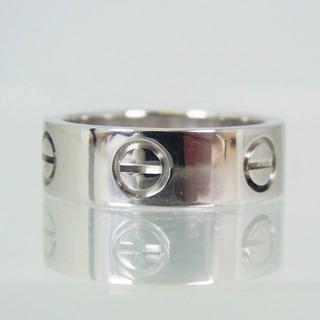 カルティエ(Cartier)のCartier/カルティエ 750WG ラブリング 8号(48) [f336-8(リング(指輪))