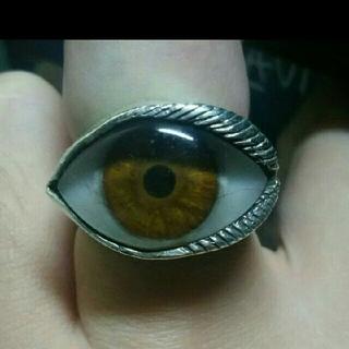 クレイジーピッグ(CRAZY PIG)のグレートフロッグ 義眼 リング 15号 ブラウン(リング(指輪))
