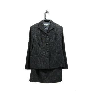 バンベール(VINVERT)のユリリン様専用 美品 ヴァンベール スーツ ミモレ丈 刺繍 黒 9号(スーツ)