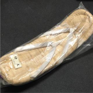 【未使用品】日本製 雪駄 特大サイズ 八寸三分 裏タイヤゴム(下駄/草履)