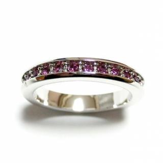 2号 スワロフスキー フルエタニティ アメジスト シルバーリング(リング(指輪))