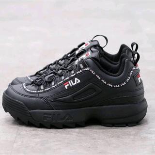 フィラ(FILA)のFILA DISRUPTOR 2 テープ ダッドスニーカー ブラック 黒(スニーカー)
