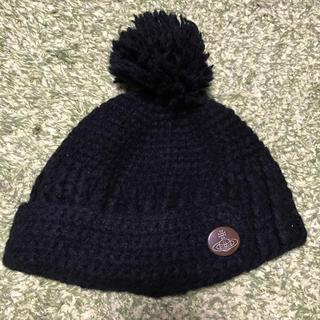 ヴィヴィアンウエストウッド(Vivienne Westwood)のヴィヴィアンウエストウッド ニット帽 黒 (ニット帽/ビーニー)