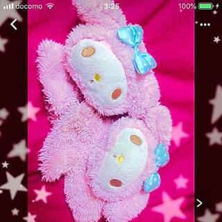 サンリオ(サンリオ)のマイメロちゃん♡♡フェイス型ボア手袋(手袋)