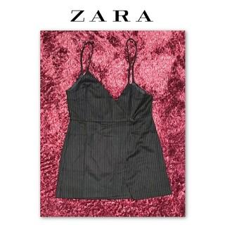 ザラ(ZARA)のZARA ザラ ストライプアンバランスキャミ レイヤード(キャミソール)