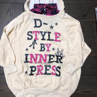 インナープレス(INNER PRESS)のINNER PRESS 薄手パーカートレーナー140(Tシャツ/カットソー)