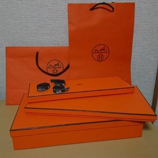 b6f7e9a47d18 エルメス(Hermes)のHERMES エルメス オレンジボックス 空箱 紙袋 ショッパー リボン セット(