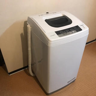 ヒタチ(日立)の地域限定送料無料美品 日立洗濯機  スリムタイプ5kg 動作良好!(洗濯機)