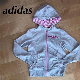 アディダス(adidas)の★ adidas アディダス 女の子 160 パーカー レディース M にも(ジャケット/上着)