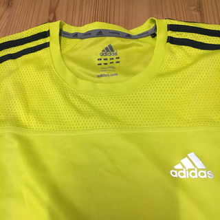 アディダス(adidas)のadidas★ランニングシャツ★黄色イエロー★メンズLサイズ(ウェア)