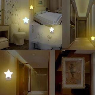 ディズニー(Disney)のNEW!LED 星センサーライト 室内 コンセントタイプ 常備灯 (蛍光灯/電球)