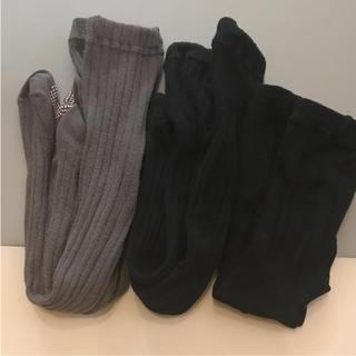 シマムラ(しまむら)のしまむら リブタイツ レギンス 三点セット 95cm(靴下/タイツ)