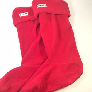ハンター(HUNTER)の【HUNTER】ハンター ブーツソックス 靴下 フリース 22~24cm(ソックス)