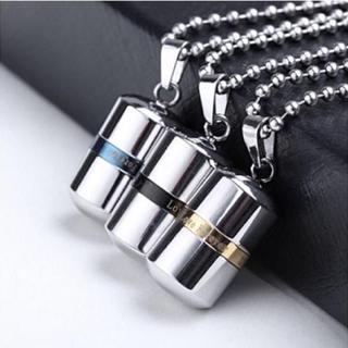 メモリアル ペンダント 香水瓶 アロマ ネックレス ステンレス(ネックレス)
