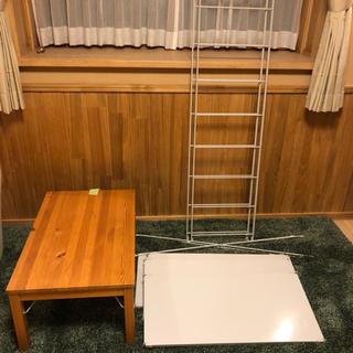 MUJI (無印良品) - 無印良品 スチールユニットシェルフ 大+パイン材ローテーブルセット