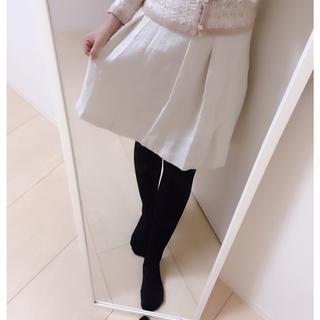 Aライン/フリル膝丈スカート/M〜L(ひざ丈スカート)