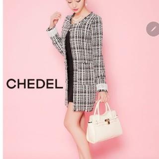 シェデル(Chedel)のChedelツイードジャケット(ノーカラージャケット)