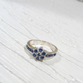 ブルーサファイア お花 リング (リング(指輪))