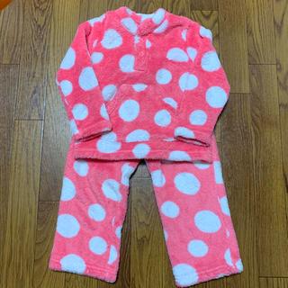 キッズフォーレ(KIDS FORET)のkidsForet♡水玉モコモコパジャマ 100cm(パジャマ)