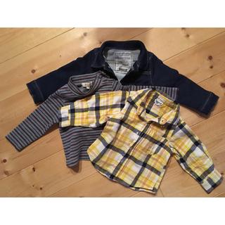 ブリーズ(BREEZE)のジージャン + シャツ BREEZE  シャツ musmush(ジャケット/上着)