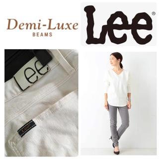 デミルクスビームス(Demi-Luxe BEAMS)のDemi-Luxe BEAMS Lee コーデュロイ スキニーパンツXSホワイト(カジュアルパンツ)